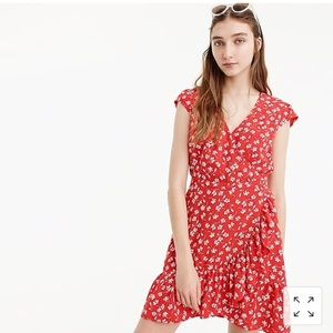 J Crew faux wrap dress